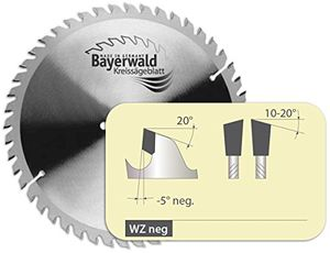 bayerwald hm kreissägeblatt für holz ø 209 mm x 30 mm x 30 mm wz negativ 64 zähne für kapp gehrungssägen