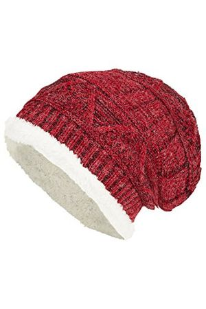 Review for warme beanie mütze mit sehr warmen innenfutter unisex no407 mützenone size farberot