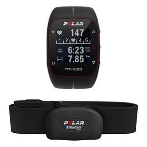Polar M400 HR - pulsometro y reloj de entrenamiento con GPS integrado y registro de actividad con sensor de frecuencia cardíaca H7, color negro con el envío libre