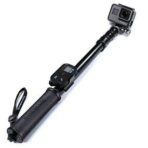 Hot sandmarc pole metal edition 38 127 cm wasserfest stick für gopro hero 6 hero 5 session hero 4 3 3 2 und hd kameras with remote halterung aluminium teleskopstange einbeinstativ
