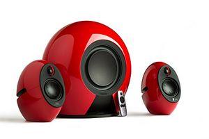 Top edifier e235 rd luna 21 home entertainment system mit buetooth aptx kabellosem subwoofer optischem eingang und fernbedienung 176w rot