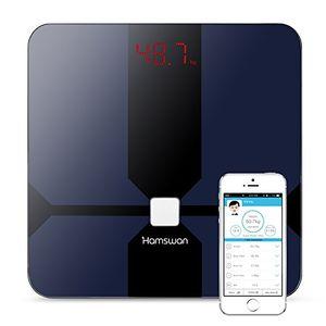 Top Báscula Grasa Corporal, [Regalos] HAMSWAN Báscula de Baño Inteligente, Analizar Más de 12 Funciones, Medidora Composición Bluetooth Para Móviles Andriod y iOS, Escalalizador Inteligente Guía