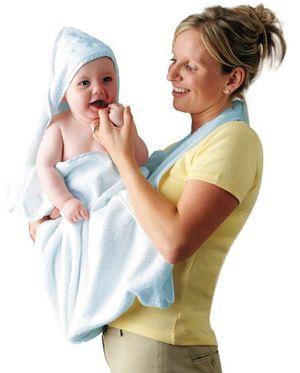 ofertas para - clevamama toalla bebé con capucha capa de baño infantil azul