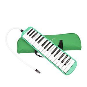deals for - 32 key melodica musikinstrument mit tragetasche bag grün