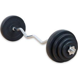 Top movit® 235 kg curlset 1 sz curlstange gerändelt und verchromt mit sternverschlüssen 8 gewichtsscheiben hantelscheiben curl set hantelset