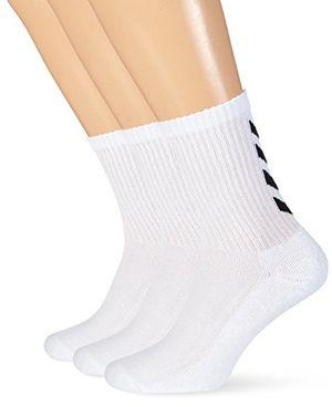hummel socken 3er set in grau rot oder blau reflector fundamental 3 pack sock strümpfe mit unterstützung für fußrücken sportsocken für freizeit sport white 12 41 45 22 140 9001