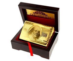 micro trader kartenspiel vergoldet 24k 999 in holzbox