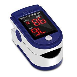 Inicio Oxímetro de Pulso Pulsómetro Dedo Digital Pulsioxímetro de Dedo Profesional con Pantalla LED, Medidor de Oxígeno en Sangre SpO2 y Monitor de Frecuencia Cardíaca para Uso Deportivo, Adultos y Niños ofertas especiales