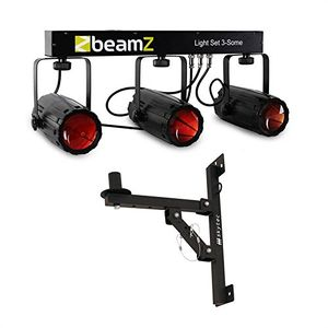 photos of Beamz 3 Some LED Lichteffekt Set 5 Tlg. Mit Wandhalterung (3 Moonflower Effekte, 3 X 57 RGBW LEDs Und T Bar, Inkl. 3 Stufig Kippbare Wandhalterung) Heute Deals Kaufen   model Musical Instruments