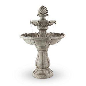 Buy blumfeldt vogelsbrunn • gartenbrunnen • springbrunnen • zierbrunnen • vogeltränke • beton optik • 3 watt solarpanel • pumpe • 250 literh durchfluss • witterungsbeständig • grau