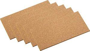 deals for - metafranc kork pads 100 x 200 mm selbstklebend 5 stück stoßdämpfend vibrationshemmend als pinnwand modellbau unterlage einfache zuschnitte korkplatte zum basteln klebekork 646106