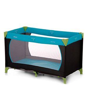 hauck kinderreisebett dream n play inkl hauck reisebettmatratze tragbar und klappbar 120 x 60 cm blauschwarzgrün waterblue