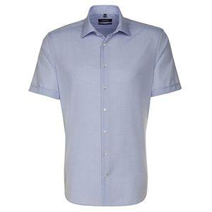 Angebote für -seidensticker herren businesshemd tailored fit kurzarm mit kent kragen uni bügelfrei
