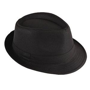 deals for - strohhut panama fedora trilby gangster hut sonnenhut mit stoffband farbe schwarz gr 58