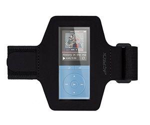 agptek lycra small armband hülle case für agptek 70 stunden a02 mp3 player mit veränderbarer länge safey design geeignet für bewegung gymnastik jogging workout rad fahren schwarz
