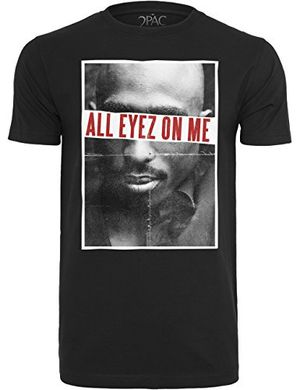 deals for - mister tee herren t shirt kurzarm 2pac all eyez on me black l mt314 00007 0042