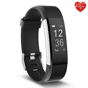 Hot herzfrequenz monitor morefit slim hr plus wasserdicht fitness aktivitäts tracker tragbares smart armband schwarz