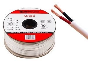 mutec cable lautsprecherkabel 2 x 15mm² 16awg 50m ring cl2 rated ul listed voll kupfer für in wall installation 50 meter ring