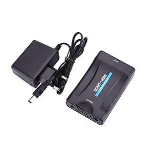 hanbaili 1080p scart zu hdmi composite audio video adapter konverter für hdtv sky box stb