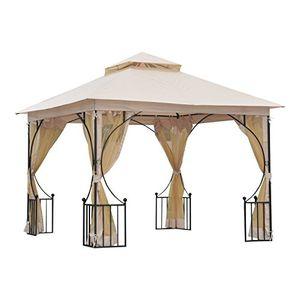 outsunny® pavillon gartenpavillon partyzelt gartenzelt festzelt doppeldach 3x3m