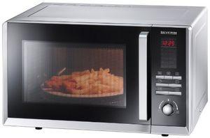 severin mw 9675 mikrowelle 800 watt 23 liter grill und umluft silber