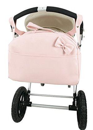 ofertas para - bolso polipiel carro bandolera marca andu modin color rosa personalizado con nombre bordado