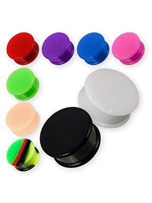 fly style paar flesh plugs aus silikon in 12 farben