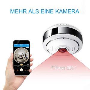 Review for fredi 3mp panorama fisheye wlan dome videoüberwachungskamera mit ir nachtsichtbewegungsmelder innenbereich wlan 360° sicherheitskamera für home mobile app ec6