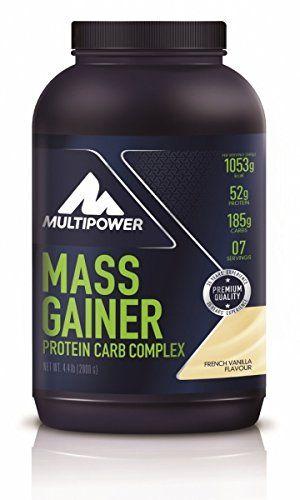 Multipower New Mass Gainer Vainilla Suplemento de Proteínas - 2000 gr comparación
