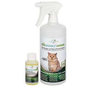 ofertas para - neutralizadores de olor spray para gatos natural removedor de la orina del gato contra el olor de la caja de arena ecosharkz for cats 50 ml de concentrado de rendimiento 1 2 litros