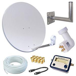 Review for hd sat anlage 80cm spiegel opticum quad lnb für 4 teilnehmer 50m kabel 40cm wandhalter sat finder 3 farben wählbar