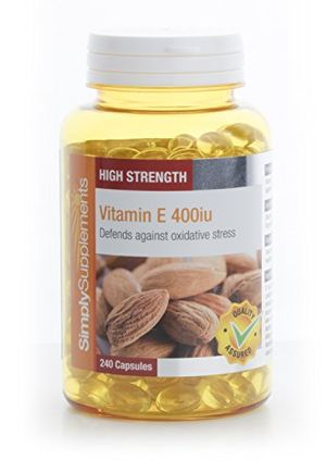 ofertas para - vitamina e 400ui 240 cápsulas hasta 8 meses de suministro tocoferol simplysupplements