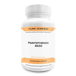 ofertas para - pure science vitamina b5 ácido pantoténico 500mg regula el colesterol refuerza el sistema inmunitario y reduce la ansiedad 50 cápsulas vegetarianas de polvo de ácido pantoténico