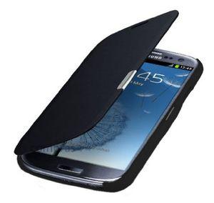 samsung galaxy s3 mini i8200n i8190 flip cover schwarz black hülle tasche akkudeckel flip case