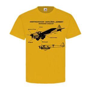 Hot freitragender hochdecker flugzeug kampfmehrsitzer bomber aufklärer wk luftwaffe frankreich england russland t shirt herren gelb 18383