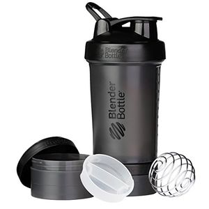 ofertas para - blenderbottle prostak botella de agua y mezcladora 1 x 650ml 2 recipientes 150ml 100ml 1 recipiente para las grageas negro