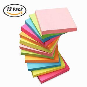 Buy haftnotiz sticky notes 3 x 3 zoll würfel notizzettel 6 neon sortierte farbe bunt haftnotizen selbstklebend memo aufkleber für büro haushalt schule 12 blöckes 100 blätter pro blöcke