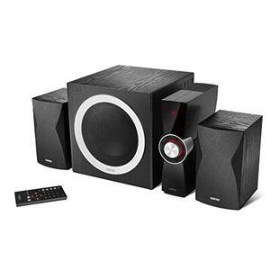 edifier c3x 21 lautsprechersystem 65 watt mit infrarot fernbedienung audio wiedergabe von usb und sd karte schwarz