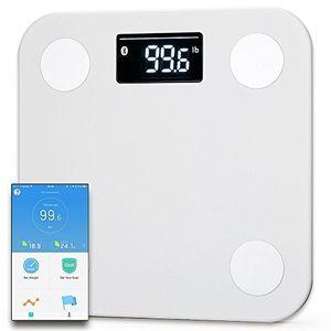 Reseña Yunmai Mini Báscula Inteligente - Peso & BMI y análisis de cuerpo + músculo y hueso de agua de BMR, .etc Balance de grasa de cuerpo de Bluetooth (Blanco) antes de compra