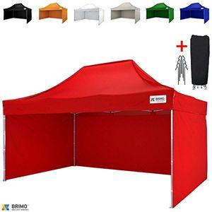 Hot brimo ® faltzelt partyzelt faltpavillion gratis 3 wände und 100 wasserdicht 3x45m rot