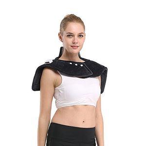 ofertas para - iguerburn almohadilla eléctrica para cuello cervicales hombros y espalda 100w tamaño:54 60cm ideal para dolencias musculares y contracturas lavable gris