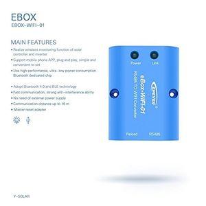 Angebote für -remote wireless monitor meter box controller von app für epever mppt solar charge controller ebox wifi