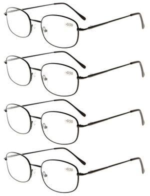 Cheap Eyekepper Gafas de Lectura con Montura Metálica y Bisagra de Resorte de 4 Paquetes +2.0 guía del comprador