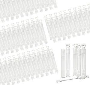 Angebote für -96x seifenblasen wedding bubbles mit herzgriff für hochzeiten 4x24er pack befüllt gefüllt