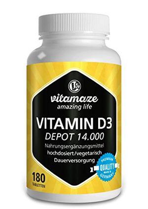 ofertas para - vitamina d3 14000 ui altamente concentrada dosis de 14 días 180 comprimidos vegetarianos producto alemán de calidad