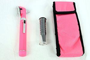 BDEALS Fiber Optic Otoscope Mini Pocket Pink Medical Ent Diagnostic Set by bdeals con el envío libre