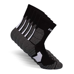 deals for - snocks damen herren running socken 5 paar ideal zum joggen laufen schwarz 43 46