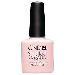 CND Shellac Esmalte de Uñas de Gel, Tono Clearly Pink antes de compra