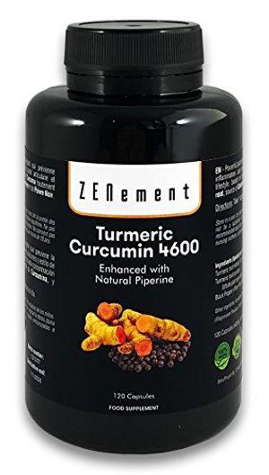 Cúrcuma 4600mg Extracto Certificado, 120 cápsulas, con Pimienta Negra. Potente antioxidante, para la salud cardiovascular y las articulaciones. Máxima concentración de raíz de Cúrcuma, No GMO, 100% Natural. opinión