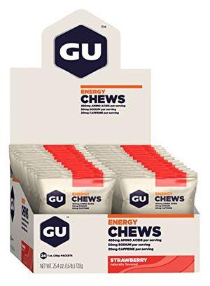 deals for - gu energy chews strawberry erdbeere box mit 24 x 30 g